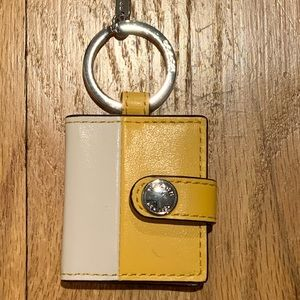 Coach Picture Keychain Yellow NEW